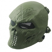 LEERYA Airsoft Paintball Full Face Skull Skeleton CS Mask Tactical Military Halloween