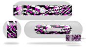 Zebra Pink Skulls Decal Style Skin - fits Beats Pill Plus