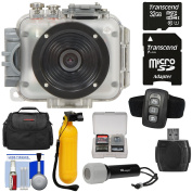 Intova Connex 1080p HD Waterproof Video Action Camera Camcorder (200 ft/ 60m) with Remote + 32GB Card + Case + LED Flashlight Torch + Floating Buoy Mount + Kit