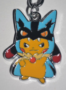 Pokemon Pikachu Cosplay Lucario Keyring Keychain Key Chain