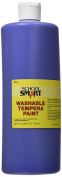 School Smart Washable Tempera Paint - Quart - Blue