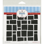 Gourmet Rubber Stamps Funky Squares Stencil, 15cm x 15cm