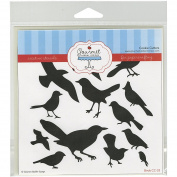 Gourmet Rubber Stamps Birds Stencil, 15cm x 15cm