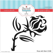 Gourmet Rubber Stamps Rose with Stem Stencil, 15cm x 15cm