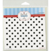 Gourmet Rubber Stamps Polka Dots Stencil, 15cm x 15cm