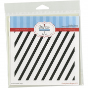 Gourmet Rubber Stamps Diagonal Stripes Stencil, 15cm x 15cm