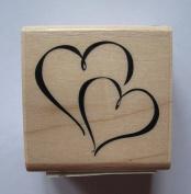"Inkadinkado 96130 ""Hearts"" Wood stamp"