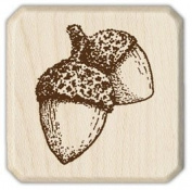 "Inkadinkado 90797 ""Acorns"" Wood stamp"