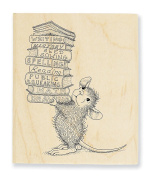 """Stampendous Wooden Handle Rubber Stamp, """"Stack of Books"""""""