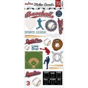 Echo Park Paper SW6801 Baseball Stickers, 15cm x 33cm , Multicolor