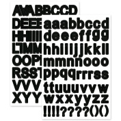 Multicraft Imports SS079D Letters Font Fun Stickers, Black