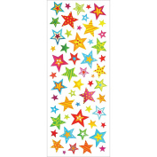 Multicraft Imports SS549B Star Bright Craft Foil Stickers, Multicolor