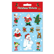 Beistle Christmas Stickers Sheet, 12cm by 19cm , 4 Sheets Per Package
