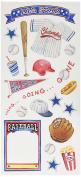 Sandylion Baseball Sticker, 14cm by 30cm , Clear