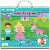 Innovative Kids Soft Shapes Chunky Puzzle Magical Kingdom Playset