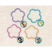 Disney Fairies Flower Shaped Charm Bracelets Birthday Party Favour (1 Piece), Multi Colour, 5.7cm .