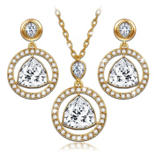 "LadyColour ""Eternal Light"" Pendant Necklace and Earrings Jewellery Set, Made With Crystals"
