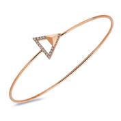 "TARA ""Legacy Collection"" 14k Gold Diamond Stud Arrow Bangle"