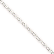 925 Sterling Silver 1.5mm Bevelled Oval Cable Link Chain Necklace Bracelet