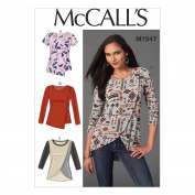 McCall's Patterns M7247 Misses' Tops, A5