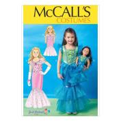 McCall's Sewing Pattern M7175 Mermaid Dresses Girls/Kids Sizes 3-8 & 46cm Dolls