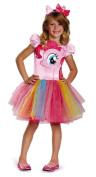 Disguise Hasbro's My Little Pony Pinkie Pie Tutu Prestige Girls Costume, X-Small/3T-4T