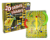 """Little Treasures 3D Snakes """"N"""" Ladders Kids Classic Board Game Family Night Fun Cooler Newer Look then the Original Version .  Chutes and Ladders"""