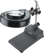 Carson MagniLamp Pro 4x LED lighted Desk Lamp Magnifier, Black