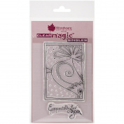 Woodware Craft Collection Doodle Bird Stamps Sheet, 8.9cm by 14cm , Clear