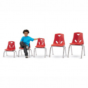 Berries Stacking Chairs with Chrome-Plated Legs Yellow/Single/25cm Seat Height