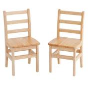 ECR4Kids 41cm Hardwood 3-Rung Ladderback Chair, Natural