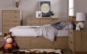 South Shore Fynn 6-Drawer Double Dresser, Rustic Oak