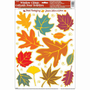 Fall Leaves Window Cling Sheet