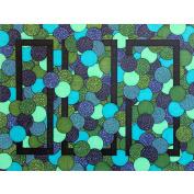 Artisticle Blue Green Geometric Art Print, 20cm x 25cm