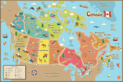 Wall Pops WPE1391 Kids Canada Dry Erase Map Decal