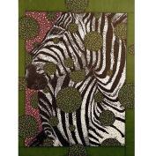 Artisticle Zebra Face Art Print, 20cm x 25cm