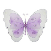 The Butterfly Grove Sasha Butterfly Decoration 3D Hanging Mesh Nylon Layered Decor, Purple Wisteria, Small, 13cm x 10cm
