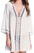 Angerella Women's Swimsuit Cover-Up Macrame Beach Cover Up Dress