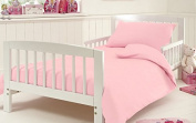 Fitted Sheet For Cot Bed Toddler Bed Sheet Egyptian Cotton 200 Tread Count Size 70 x 140 Cm Approximately , Pink