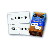 Learning Advantage 8651 Unknown Quantities Addition and Subtraction Flash Cards