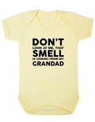 Don't Look At Me That Smell Is Coming From My Grandad Baby Boy Girl Unisex Short Sleeve Bodysuit