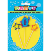 Stars & Number 0 Birthday Candle Set, 3pc