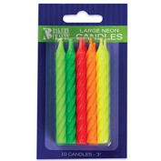 Oasis Supply Assorted Neon Birthday Candles, 7.6cm