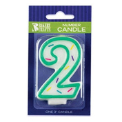 Oasis Supply Number-2 Sprinkle Birthday Candles, 7.6cm