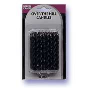 Oasis Supply Candy Stripe Birthday Candles, 6.4cm , Black