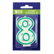 Oasis Supply Sprinkle Birthday Candles, 7.6cm , Number-8