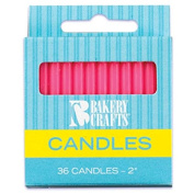Oasis Supply Plain Birthday Candles, 5.1cm , Pink, 36 Candles per Pack