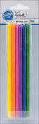 Wilton Long Birthday Candles, 15cm , Assorted Colours, 12-Pack