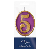 Design Design Ovation 5 Birthday Candle, Multicolor