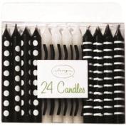 Design Design Black & White Patterns Birthday Candles, Multicolor